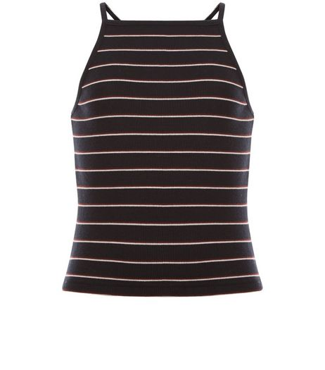 Teens Black Stripe Square Neck Cami | New Look