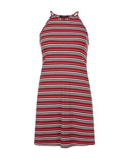 Teens Red Stripe Swing Dress | New Look