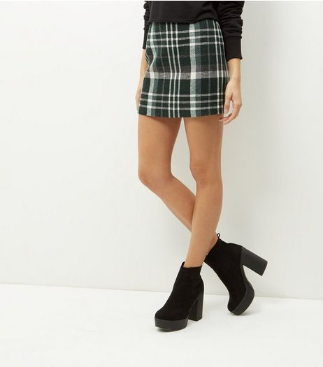 Green Check Print Mini Skirt | New Look
