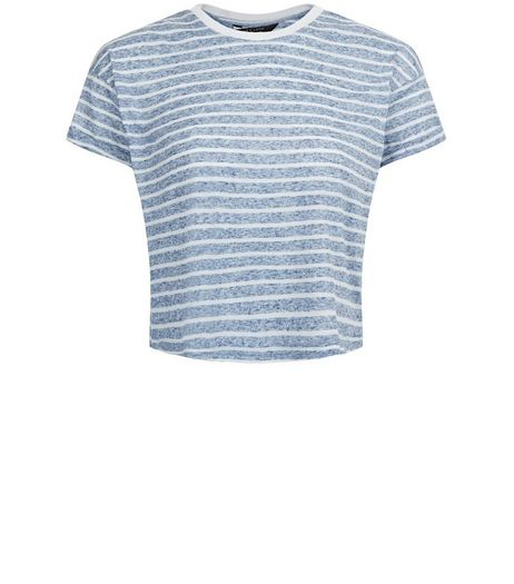 Teens Blue Stripe T-Shirt | New Look
