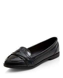 Teens Black Patent Loafers | New Look