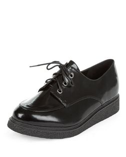 Teens Black Lace Up Creepers | New Look