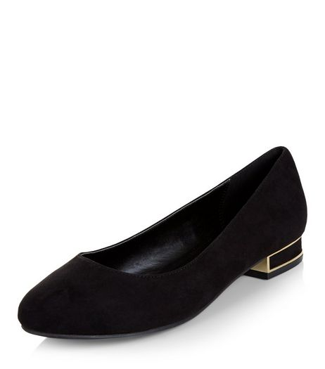 Black Block Heel Pumps | New Look