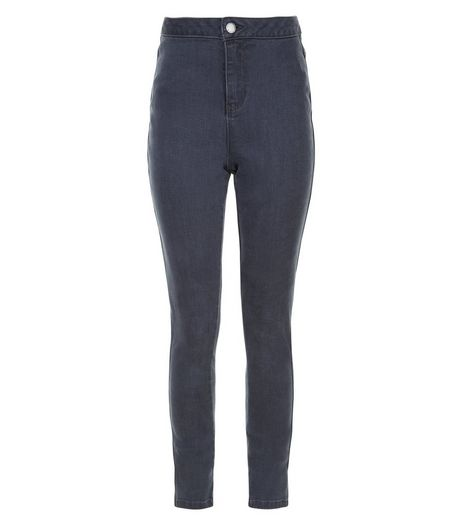 Teens Dark Grey High Waist Super Skinny Jeans | New Look