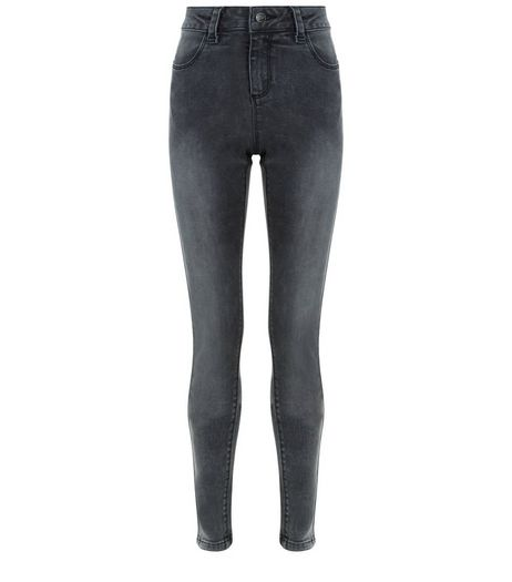 Teens Dark Grey Skinny Jeans | New Look