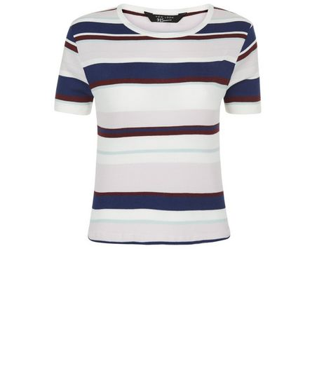 Teens Pink Stripe T-Shirt | New Look