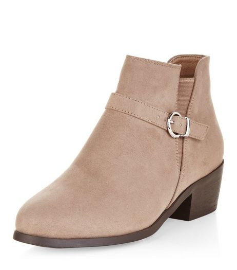 Teens Light Brown Buckle Western Ankle Boots | New Look