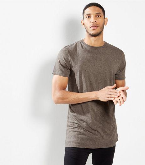 Brown Longline T-shirt | New Look