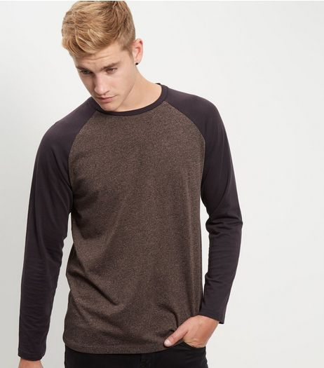 Brown Raglan Long Sleeve Top | New Look