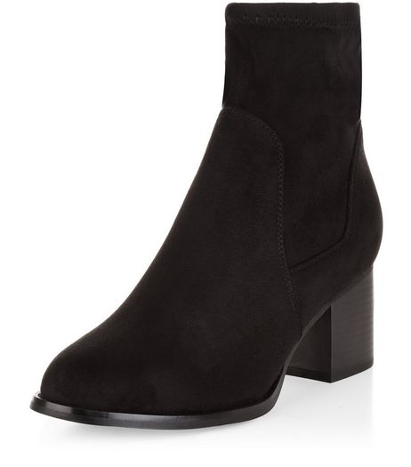 Teens Black Block Heel Ankle Boots | New Look