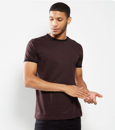 Dark Purple Short Sleeve T-Shirt  | New Look