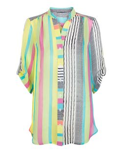 Cameo Rose Multicoloured Stripe Shirt  | New Look