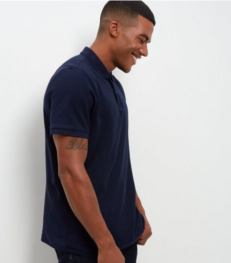 Navy Basic Polo Shirt | New Look