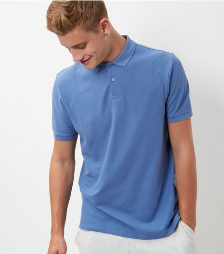 Blue Basic Polo Shirt | New Look