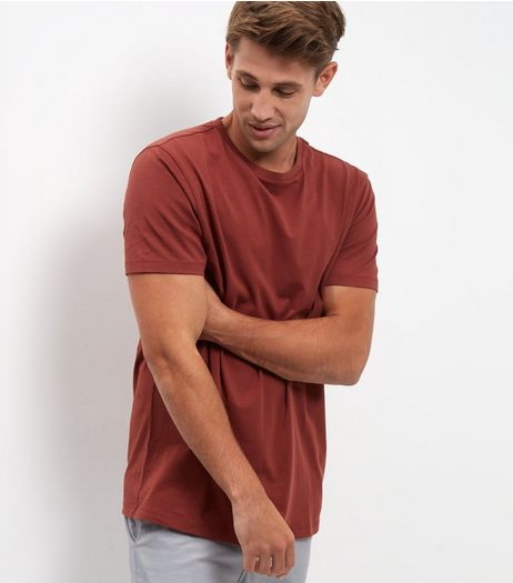 Rust Crew Neck T-Shirt  | New Look