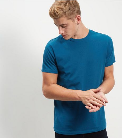 Blue Crew Neck T-shirt | New Look