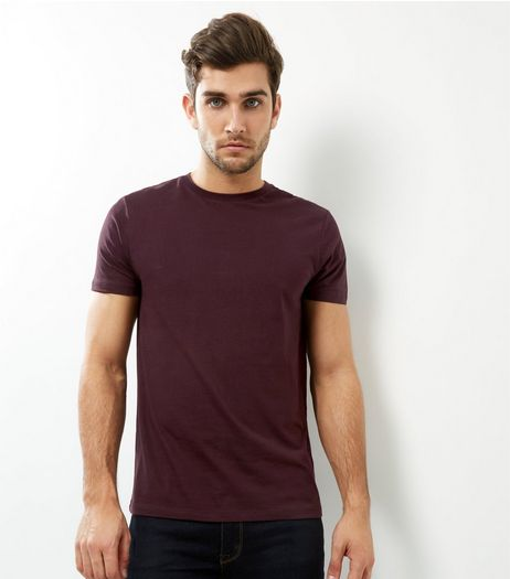 Dark Purple Crew Neck T-shirt | New Look