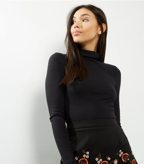 Black Long Sleeve Turtle Neck Top | New Look