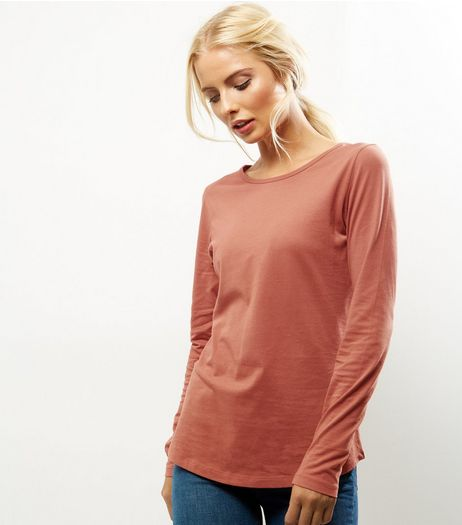 Light Brown Crew Neck Long Sleeve Top | New Look