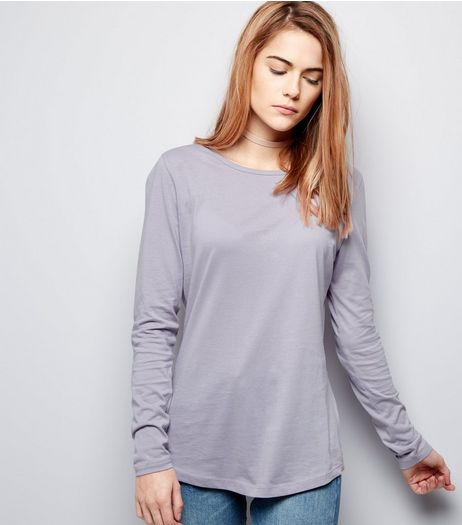 Lilac Crew Neck Long Sleeve Top | New Look