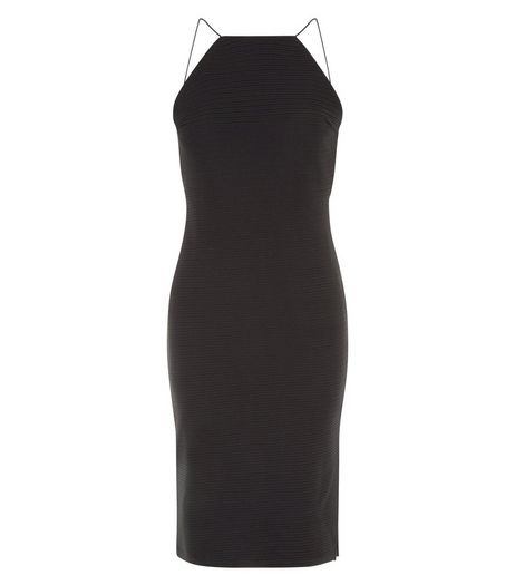 Cameo Rose Black High Neck Backless Dress | New Look