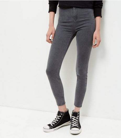 Dark Grey High Waist Super Skinny Jeans | New Look