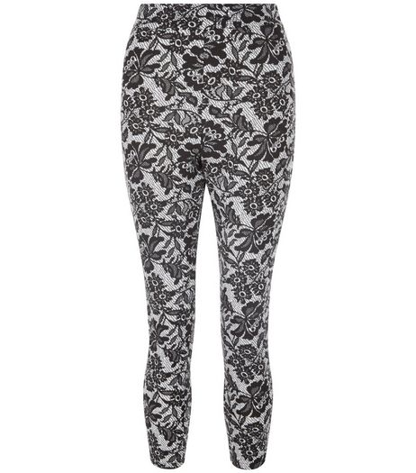 Cameo Rose Black Floral Print Leggings | New Look