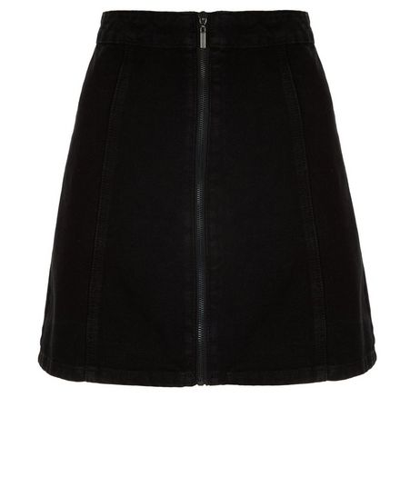 Anita and Green Black Zip Front Skirt  | New Look