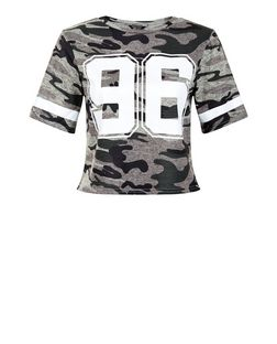 Teens Green Camo 96 Print Short Sleeve T-Shirt | New Look