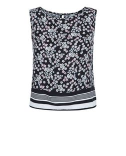 Teens Black Floral Print Shell Top | New Look
