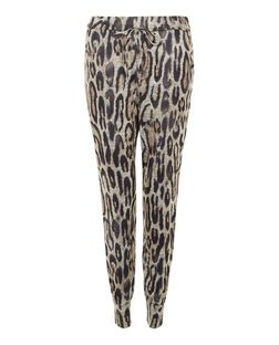 Cameo Rose Black Leopard Print Joggers | New Look