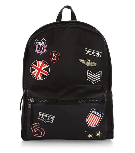 Black Badge Backpack  | New Look