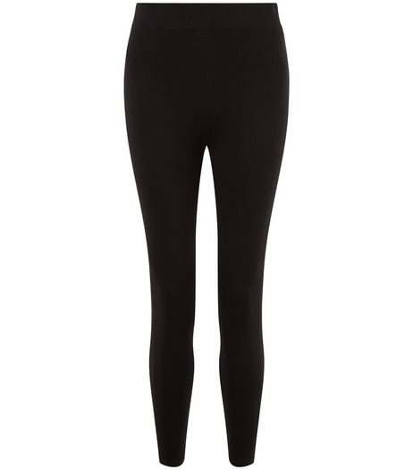 Petite Black Mesh Panel Leggings | New Look
