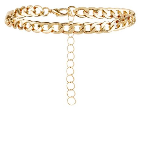 Gold Wide Chain Anklet | New Look