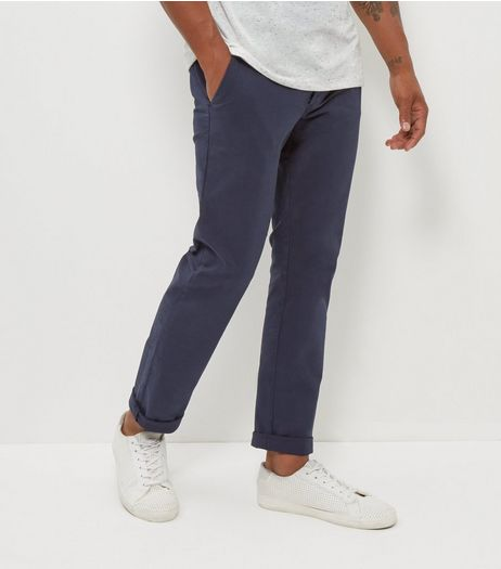 Navy Slim Chinos | New Look