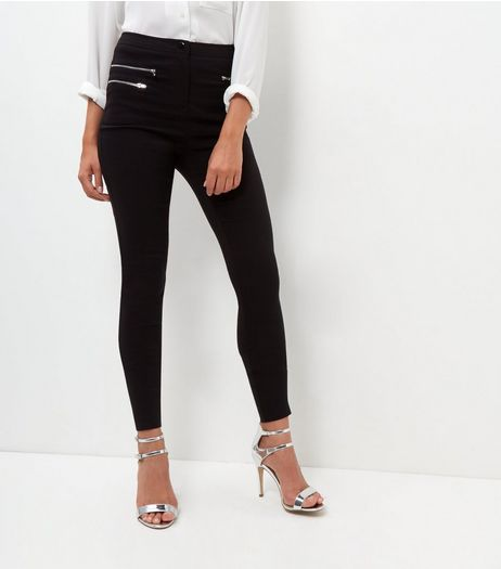 Tall Black Slim Leg Bengaline Trousers | New Look