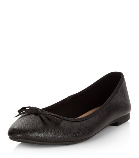 Wide Fit Black Ballet Pumps | New Look