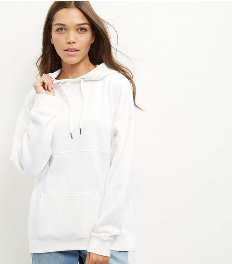 Cream Seam Trim Oversized Hoodie  | New Look