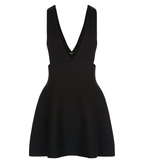 Teens Black Skater Pinafore Dress | New Look