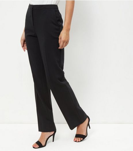 Black Bootcut Trousers  | New Look