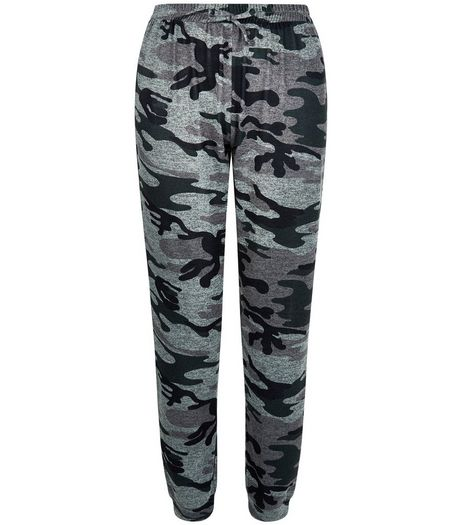 Teens Green Camo Print Joggers  | New Look