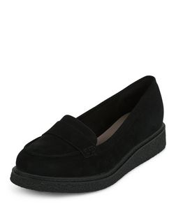 Black Creeper Loafers | New Look