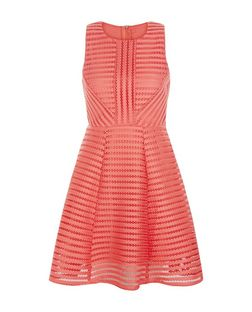 AX Paris Coral Ladder Skater Dress | New Look