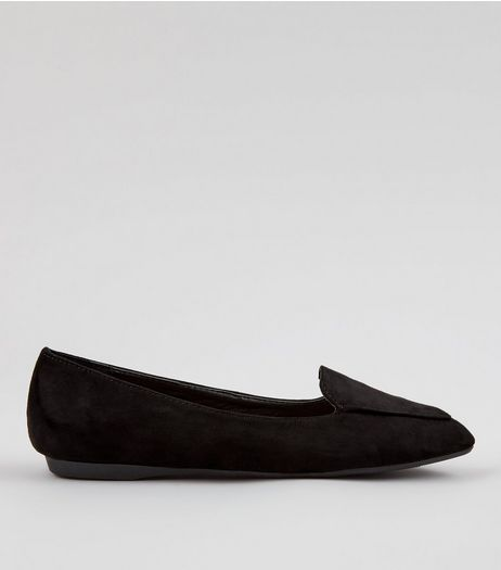 Teens Black Pointed School Pumps | New Look