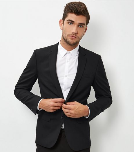Black Skinny Suit Jacket | New Look