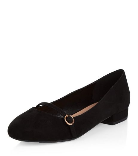 Wide Fit Black Suedette Ballet Pumps | New Look