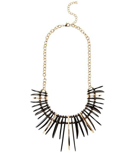 Black Spike Necklace | New Look