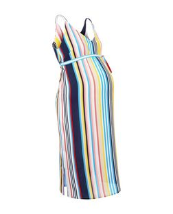 Maternity Yellow Stripe Cami Slip Dress | New Look