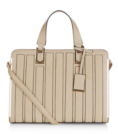 Mink Panelled Tote Bag | New Look