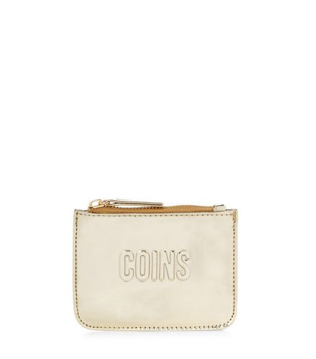Gold Coins Zip Top Coin Purse  | New Look